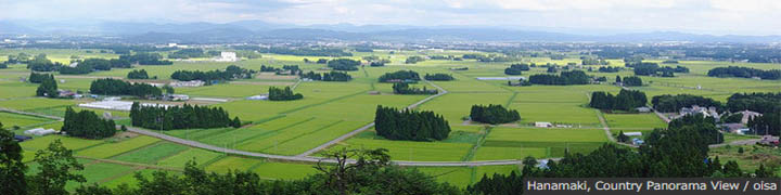 Hanamaki, Country Panorama View