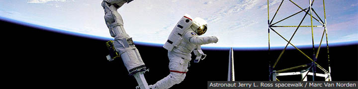 Astronaut Jerry L. Ross spacewalk