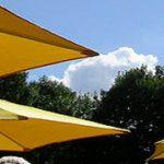 茨城の水田地帯に広がった傘の群れ。「クリストとジャンヌ=クロード アンブレラ 日本=アメリカ合衆国 1984-91」